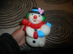 Vintage Novelty Squeeky Snowman Toy