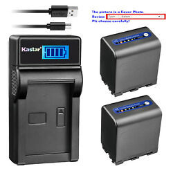 Kastar Battery Lcd Usb Charger For Sony Np-qm91d And Sony Dcr-dvd200 Dcr-dvd201