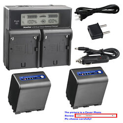 Kastar Battery Lcd Dual Fast Charger For Sony Np-qm91d And Dcr-dvd200 Dcr-dvd201