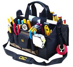 Open Top Tool Bag Pouch Large 16 Pocket Storage Electrician Contractor Custom