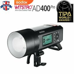 Uk Godox Ad400pro 400ws 2.4g Wireless Ttl Gn72 All-in-one Studio Outdoor Flash