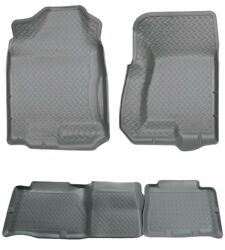 Husky Silver Classic Front And 2nd Row Floor Liners For 00-06 Tahoe / Yukon And More