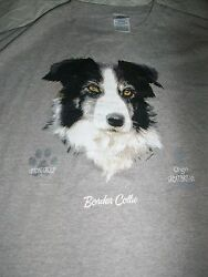 BORDER COLLIE DOG Herding Group Great Britain T SHIRT 2X The Wild Side Preowned