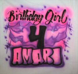 Personalized Girls Birthday Party T SHIRT 4th 5th 6th 7th 8th 9th 10th 11th 12th $8.75