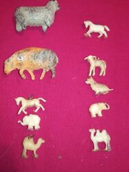 Vintage Cast Lead Farm Animals 2 And 8 Other Animals