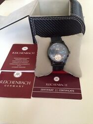 Reichenbach Automatic Menand039s Leather Luxury Sport Watch Rb509-622b New In Box