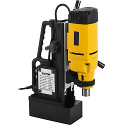 Vevor 1350w Magnetic Drill Press 1 Boring Andamp 3372 Lbs Magnet Force Tapping