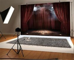 Magic Theater Stage Red Curtains Photography 10x6Ft Backdrop Cloth Studio