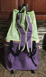 Tupperware Soft sided Backpack Cooler ~ Zip Apart Mesh Top & Insulated Bottom!