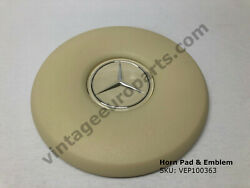 New Ivory Steering Wheel Horn Pad And Emblem Fits Mercedes 108 109 111 113 114 115