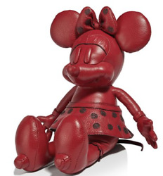 🌺🌹COACH Disney x Coach Small Leather Minnie Mouse Doll Red Original Packaging