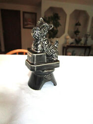 BOYD'S CERAMIC BLACK SCOTTY TERRIER DOG PIE BIRD VENT