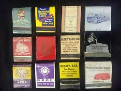 12 Detroit Michigan Front Strike Matchcover Lotgrant Bros. Foundry Bars Hotels