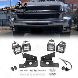 For 07-14 Chevrolet Silverado 1500/2500 96w Led Fog Light Pod Hidden Bumper Kits