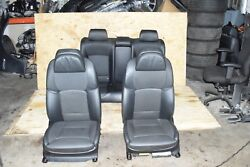 BMW F01 NAPPA LEATHER FRONT AND REAR SPORT HEATED SEAT CHAIRS SET BLACK 41K OEM