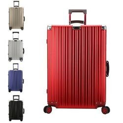 20 25 29 Inch Aluminum Suitcase Simple Design Hardside Luggage Unisex Travel Bag