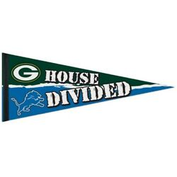 Green Bay Packers Detroit Lions House Divided Pennant 12x30 Banner
