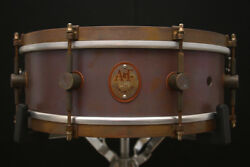 A And F Drum Co 5 X 14 Raw Copper Snare Drum W/ Video