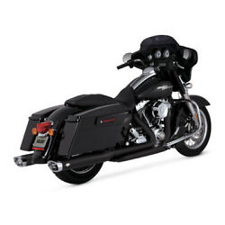 Vance And Hines Dresser Duals Elbow Black For Harley Davidson Touring 09-16