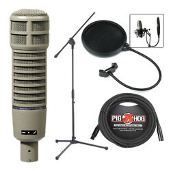 Electro-Voice EV RE20 Dynamic Cardioid Microphone w Pop Filter Stand