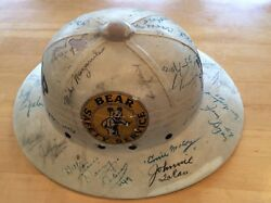 Authentic 1954 Indy 500 Bear Safety Service Pith Helmet with Driver Autographs