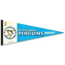 Pittsburgh Penguins Premium Quality Pennant 12x30 Classic Style Banner