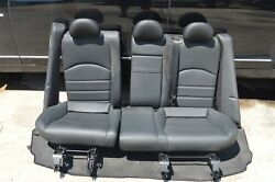 07-09 W211 MERCEDES E63 E550 REAR SEAT TOP & BOTTOM BLACK LEATHER  SUEDE PAIR