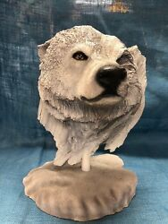 Rick Cain 1996 Snow Wolf Limited Edition Sculpture 914/1000