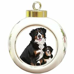 Doggie of the Day Bernese Mountain Dog Adult Puppy Christmas Holiday Ornament