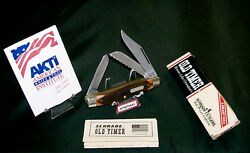 Schrade 89ot Knife Old Timer Blazer Stockman 4 Circa 1980and039s W/packagingpapers