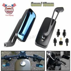 8mm 10mm Motorcycle Rear View Side Mirrors Adjustable For Honda Suzuki Yamaha US