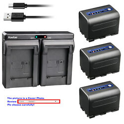 Kastar Battery Dual Usb Charger For Sony Np-qm71d And Sony Dcr-dvd200 Dcr-dvd201