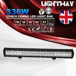 23 Inch Combo Beam 5D 336W 33600LM Led Light Bar w DT Wiring Kit Offroad Lights