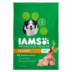 IAMS ProActive Health Chunks Dry Dog Food for All Dogs – Chicken 29.1 Pound Bag