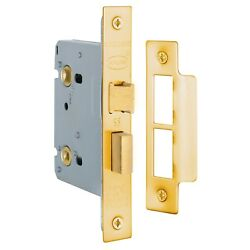 Delf MORTICE PRIVACY LOCK CASE 76mm Polished Brass