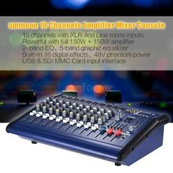 2016 Hot 10 Channels Powered Mixer Amplifier Digital Audio Mixing Console A6Q5