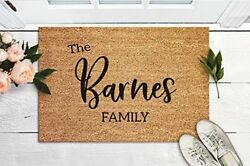 Welcome Mat Custom Door Mat Housewarming Gift New Home Gift Personalized Wedding