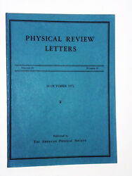 Physical Review Letters - Anthony Leggett - Signed 1972 Vintage Physics Journal