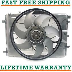 Radiator Cooling Fan Assembly For Mercedes-benz Fits E350 C300 Mb3115122