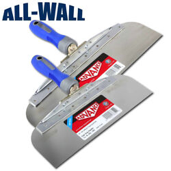 Advance Drywall Offset Taping Knife 10 And 12 Stainless Steel Finishing Knives
