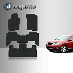 Toughpro Floor Mats + 3rd Row Black For Nissan Pathfinder All Weather 2005-2012