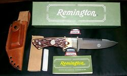 Remington R6 Skinning Knife And Sheath Bushcrafters Special W/packaging,papers