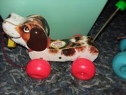 Vintage Toys Fisher Price Fire Truck,blocks ,3 Men In A Tub And Snoopy, Patch Pony