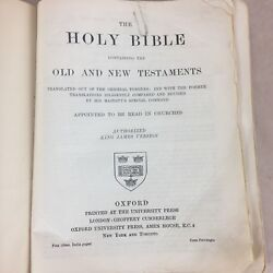 The Holy Bible Containing The Old And New Testament Authorized King James Versi
