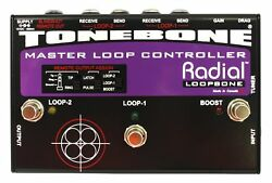 Radial Tonebone Loopbone Effects Pedal Looper Pedalboard Master Control With ...