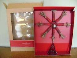 Pottery Barn Plaid Snowflake Tree Topper Rustic Northwoods Style New In Box