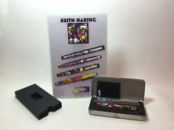"""Archived Acme Studio """"doubles Multi"""" Roller Ball Pen By Keith Haring W/ Display"""