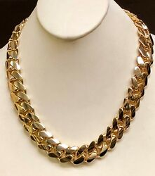18k Solid Yellow Gold Miami Cuban Curb Link 38