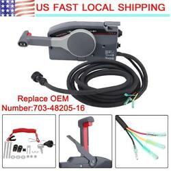 Boat Outboard Remote Control Box Fit Yamaha 10Pin Cable Right Hand PUSH Throttle