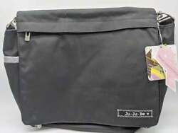 NEW Ju Ju Be Classic Collection Better Be Messenger Diaper Bag Black Silver $38.69